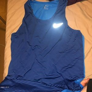 Blue Nike men's tank top